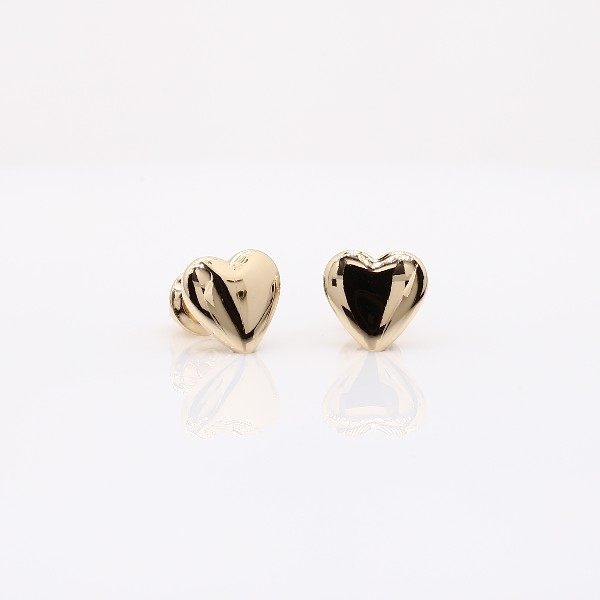 Blue Nile Childrens Heart Earrings in 14k Yellow Gold 9DJZpR