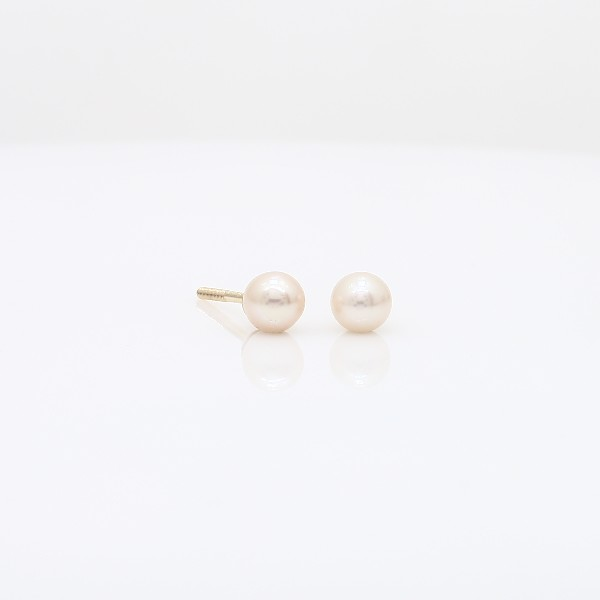 Blue Nile Childrens Freshwater Cultured Pearl Earrings in 14k Yellow Gold (4mm) NxYJuQav