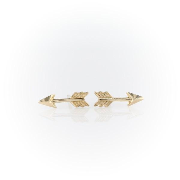 Arrow Stud Earrings in 14k Yellow Gold