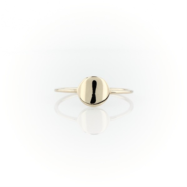 Petite Disc Fashion Ring in 14k Yellow Gold