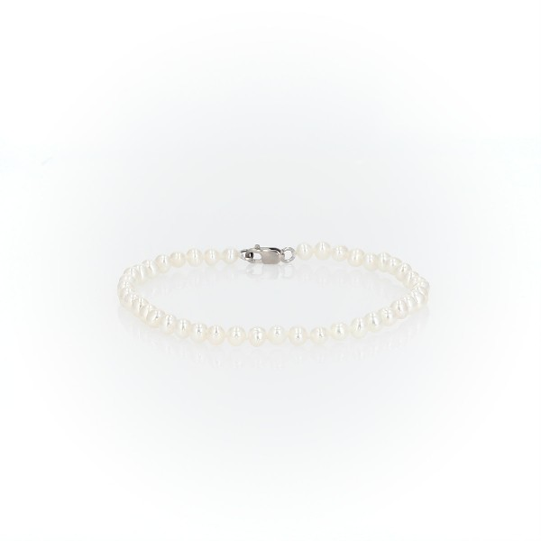 Freshwater Cultured Pearl Bracelet in 14k White Gold (6-6.5mm)