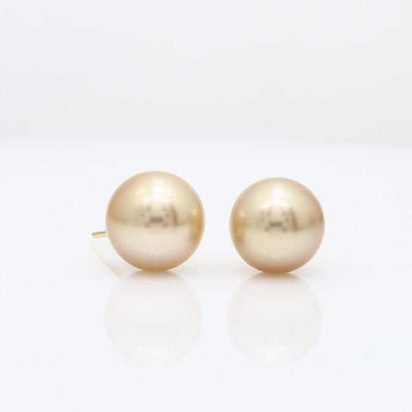 Blue Nile Golden South Sea Cultured Pearl Stud Earrings in 18k Yellow Gold (9.4mm) oNJRD