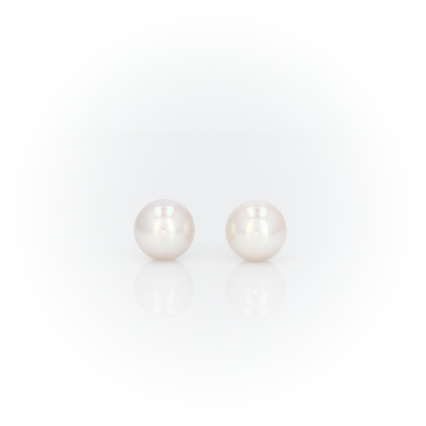 Premier Akoya Cultured Pearl Stud Earrings in 18k White Gold (6-6.5mm)