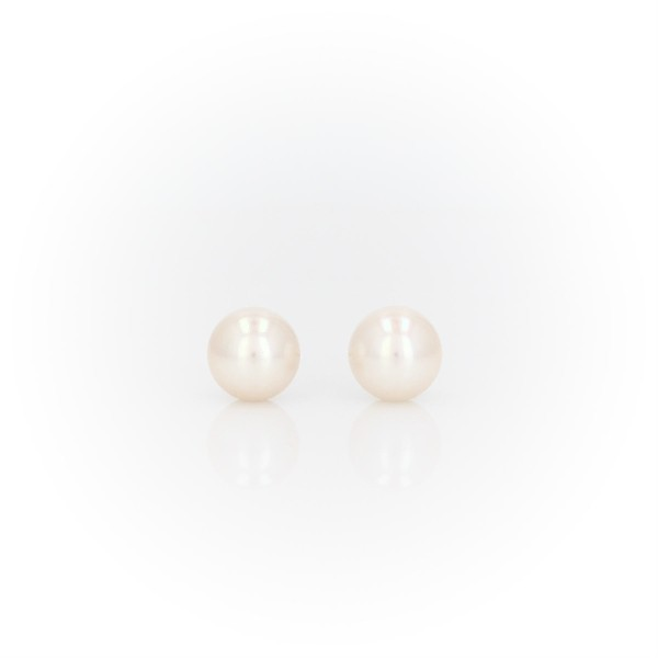 Freshwater Cultured Pearl Stud Earrings in 14k Yellow Gold (6mm)