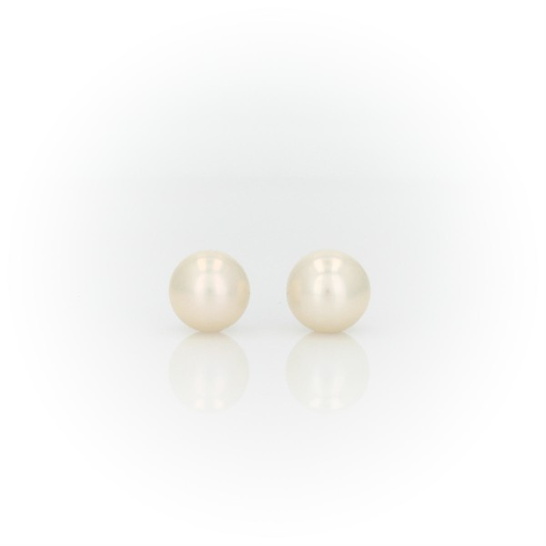 Freshwater Cultured Pearl Earrings in 14k White Gold (6mm)