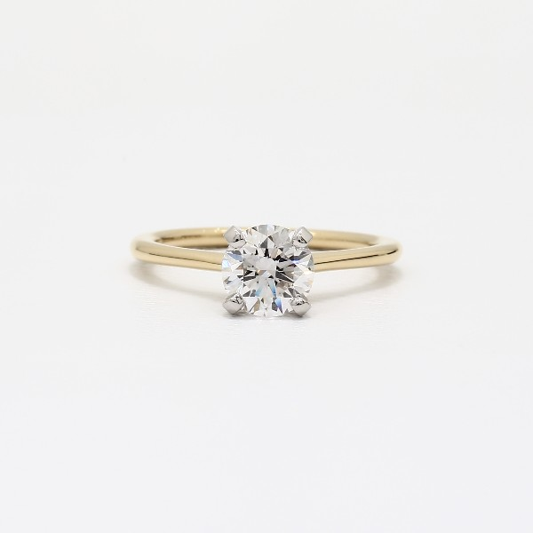 Petite Solitaire Engagement Ring In 18k Yellow Gold Blue Nile
