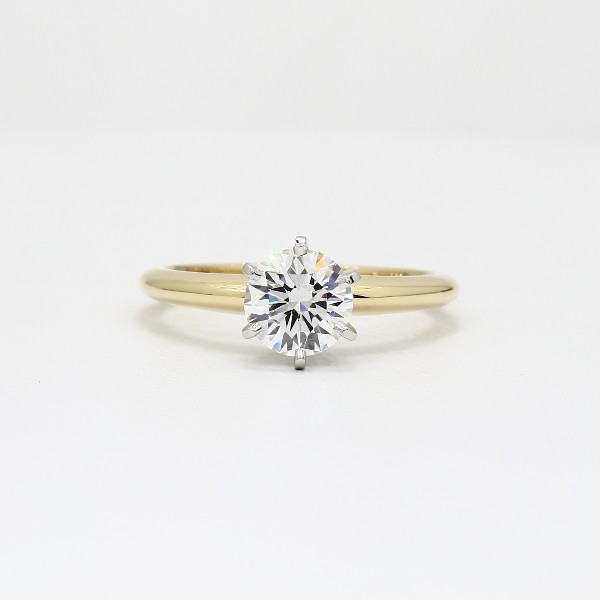 Classic Six Prong Solitaire Engagement Ring in 18k Yellow Gold