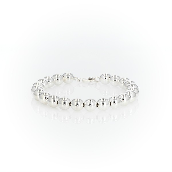 Beaded Bracelet in Sterling Silver