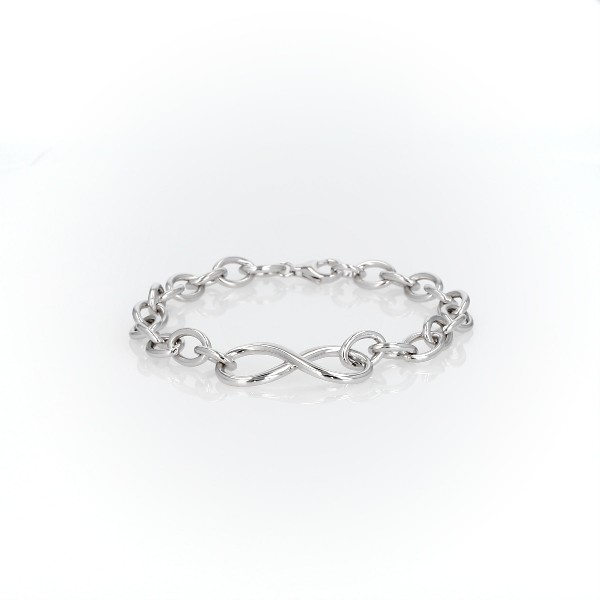 Infinity Chain Bracelet in Sterling Silver