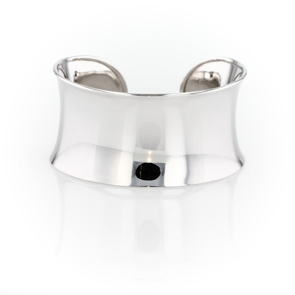 Wide Polished Statement Cuff in Sterling Silver