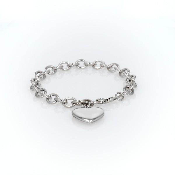 Bracelet médaillon chéri en argent sterling