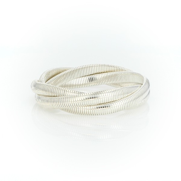 Woven Cobra Bracelet in Sterling Silver
