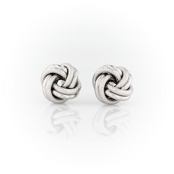Interlaced Love Knot Earrings in Sterling Silver