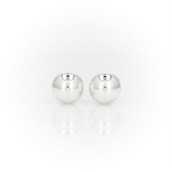 Bead Earrings in Sterling Silver (8mm)