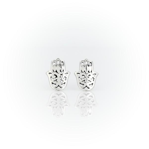 925 純銀法蒂瑪之手釘款耳環