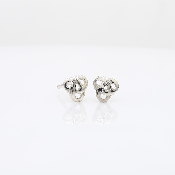 Petite Celtic Knot Earrings in Sterling Silver