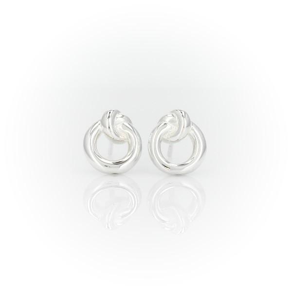 925 純銀友愛之結釘款耳環