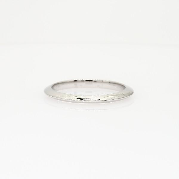 14k 白金刀锋型结婚戒环