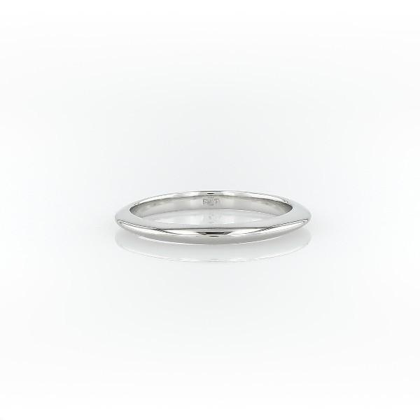 鉑金刀鋒型結婚戒環