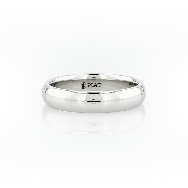 Comfort Fit Wedding Band in Platinum (5mm)