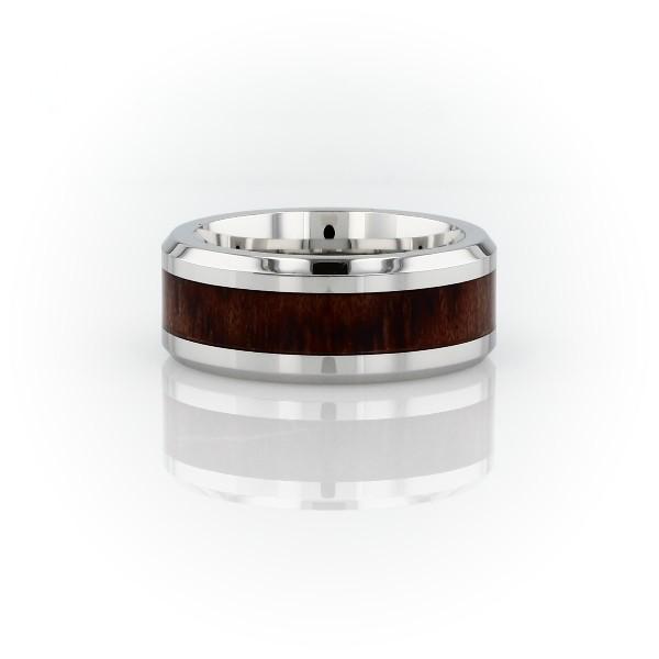 钴木嵌条结婚戒指<br>(8毫米)