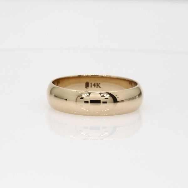 Midweight Comfort Fit Wedding Band in 14k Yellow Gold 5mm