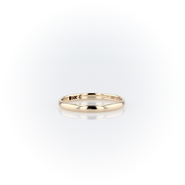 Classic Wedding Ring in 14k Yellow Gold (2mm)
