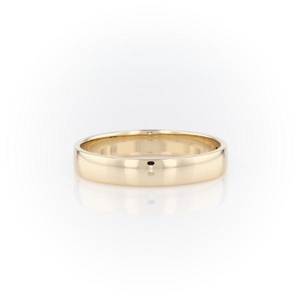 14k 金经典结婚戒指(4毫米)