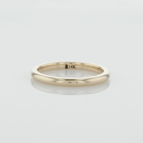 Comfort Fit Wedding Ring in 14k Yellow Gold (2mm)