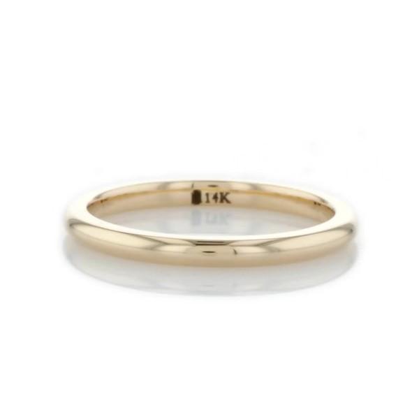 14k 金内圈圆弧设计结婚戒指(2毫米)