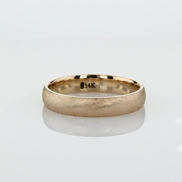 14k 黃金佛羅倫斯結婚戒指(4毫米)