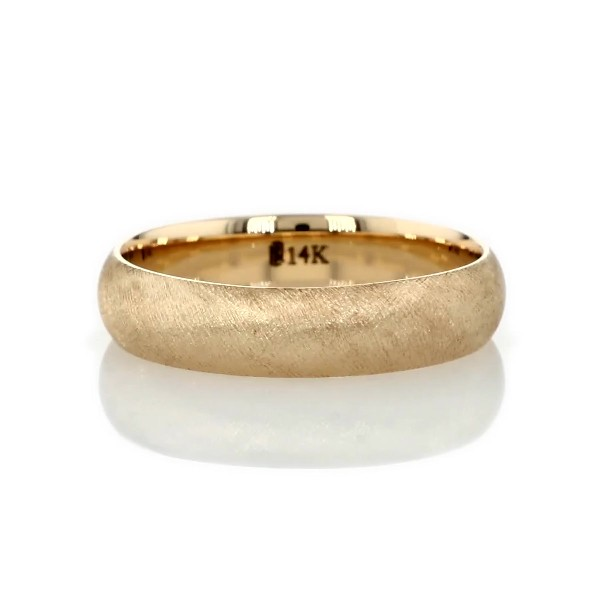 14k 金佛罗伦萨风结婚戒指(5毫米)