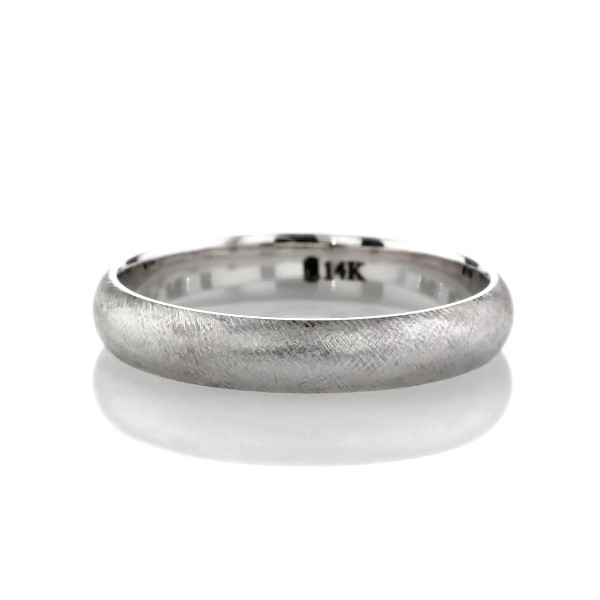 Florentine Wedding Band in 14k White Gold (4mm)