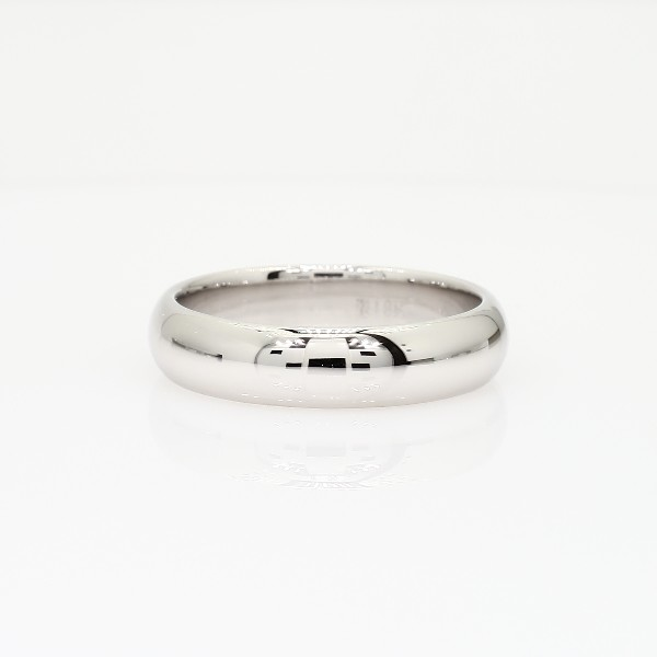 fort Fit Wedding Ring in 18k White Gold 5mm