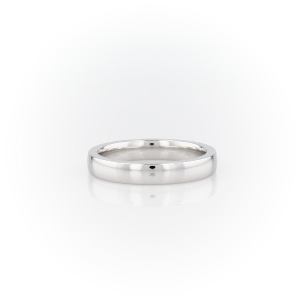 Low Dome Comfort Fit Wedding Ring in 18k White Gold (3mm)