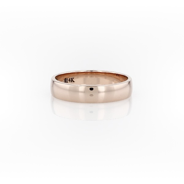 Alliance classique en or rose 14 carats (4 mm)