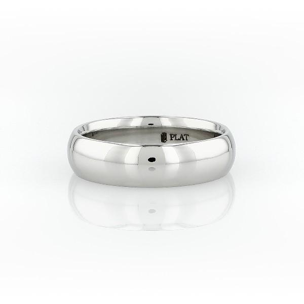 Alianza de diseño redondeado en platino (6mm)