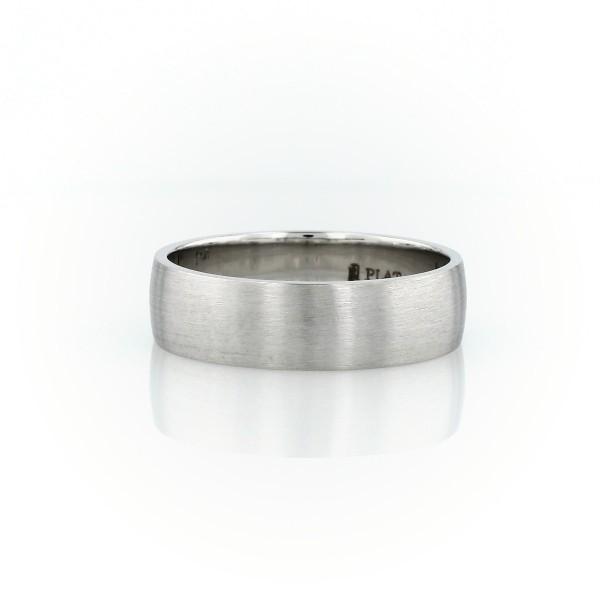 Alianza clásica mate en platino (6mm)