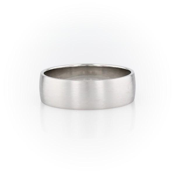 鉑金啞光經典結婚戒指(7毫米)