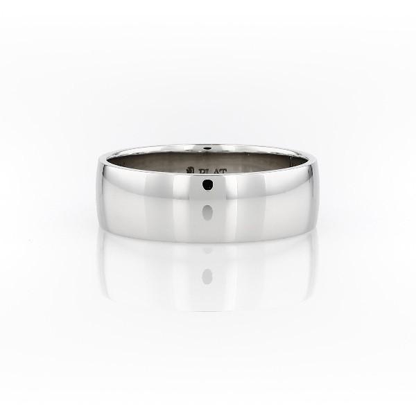 鉑金經典結婚戒指(7毫米)