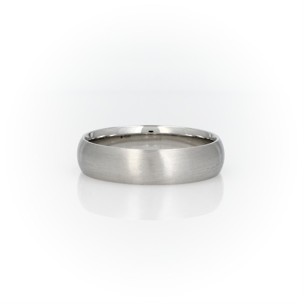 d45a226bdec ... Matte Mid-weight Comfort Fit Wedding Band in Platinum (5mm). Top View -  Image magnified Side View - Image magnified 360 Video - Image magnified