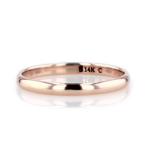 Classic Wedding Ring in 14k Rose Gold (2mm)