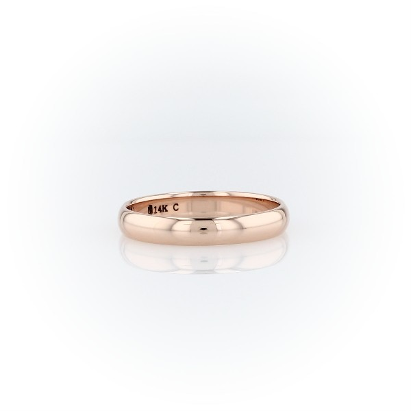 Classic Wedding Ring in 14k Rose Gold (3mm)
