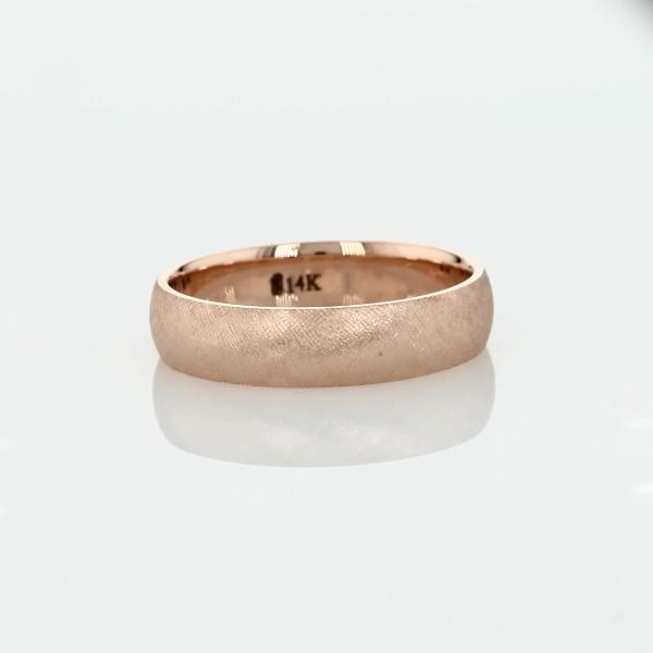 Florentine Wedding Band in 14k Rose Gold (5mm)