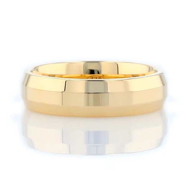 ZAC Zac Posen Modern Beveled Edge Plain Band in 14K Yellow Gold (6mm)